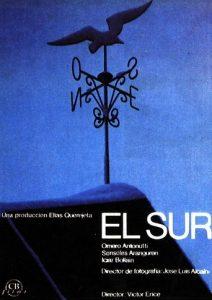 """Poster de la película """"El sur"""""""