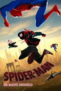 """Poster de la película """"Spider-Man: Un nuevo universo"""""""